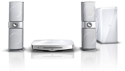Philips HTS9241/12 2.1 3D Blu-ray Heimkinosystem (HDMI, Full-HD, Upscaler 1080p, DivX-zertifiziert, Apple iPod/iPhone Dock, USB) weiß