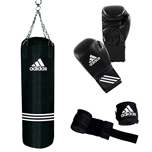 adidas Boxing Set Performance, Schwarz, ADIBAC11KIT