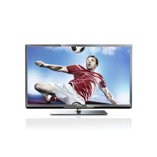 Philips 46PFL5007K/12 117 cm (46 Zoll) LED-Backlight-Fernseher, Energieeffizienzklasse A+ (Full-HD, 400Hz PMR, DVB-C/T/S, CI+, Smart TV Plus, WiFi, USB Recording) silber schwarz gebürstet