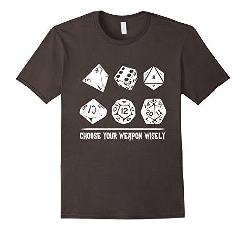 Men's Choose Your Weapon Wisely Board Game Gamer funny T-Shirt 2XL Asphalt
