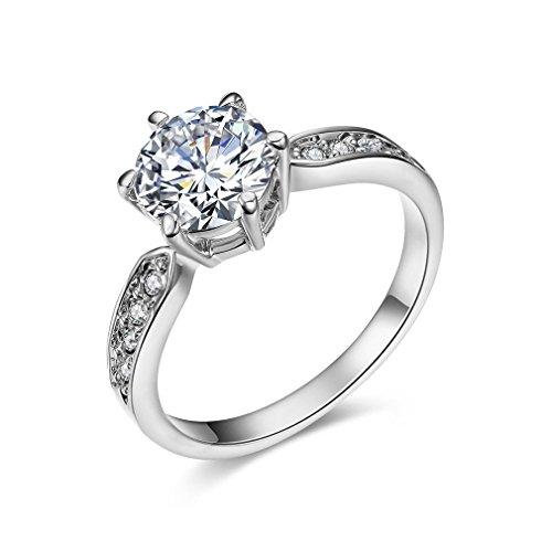 [ベラ バリー] Bella Barry ウエディング CZダイヤ リング レディース 婚約指輪(ラウンド形) サイズ:12号 41SEmDQ3O 2BL