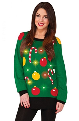 Adult-Ugly-Christmas-Tis-the-Season-Light-Up-Sweater-3-Sizes-Med-XL