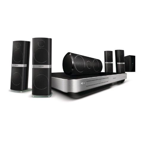 Philips HTS8562 5.1 3D Blu-ray-Dock für Apple iPod/iPhone (HDMI, Kartenslot) schwarz/silber