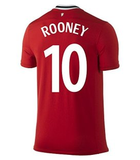 NIKE ROONEY #10 Manchester United Home Soccer Jersey/サッカーユニフォーム マンチェスター・ユナイテッドFC ホーム用 背番号10 ルーニー (L)