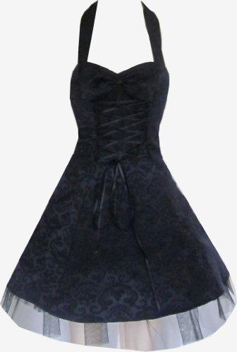Pretty Kitty Fashion Schwarz Vintage Abendgesellschaft Prom Mini Bows Kleid