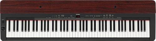 Yamaha P155 Contemporary Piano with Mahogany Top Board, Black