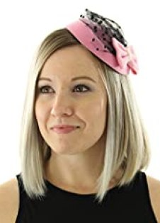 The Kate Pillbox Fascinator Hat with Hair Clip for Women (Light Pink)