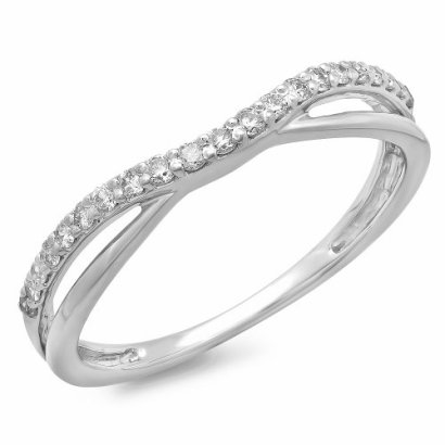 025-Carat-ctw-14K-White-Gold-Round-Diamond-Anniversary-Wedding-Guard-Contour-Band-14-CT-Size-8