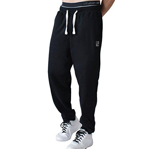 urban air | Athleisure One | komfortable Jogginghose, Sporthose, Sweatpants | Herren | für Fitness und Freizeit | grau, schwarz | S, M, L locker geschnitten