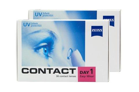 Contact Day 1 Easy Wear - 2x30er Box (Dioptrien: -6,00 / Basiskurve: 8,60 / Durchmesser: 14,20)