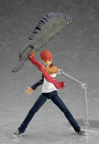 Fate/Stay Night : Shiro Emiya Using Casual Wear Figma Figure with Berserker's axe-blade