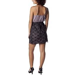 Product Image Xhilaration® Juniors Front Ruffle Dress - Dusty Mauve/BlackS