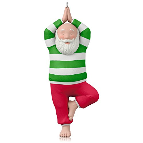 Hallmark Santa Yoga Ornament