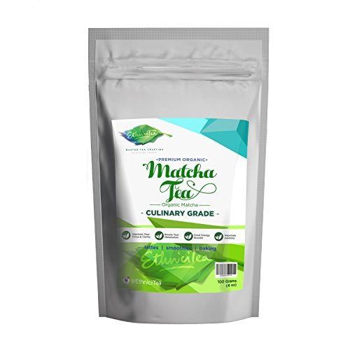 *Flash Sale* Matcha Green Tea Powder – 100 grams [4 oz] USDA Organic Premium Culinary Grade – 137 Antioxidants – Best for Lattes – Smoothies – baking – Coffee Substitute – Metabolism booster