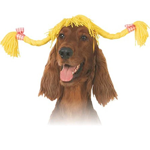 Pet Pigtails Dog Costume Hat (Size: Small)