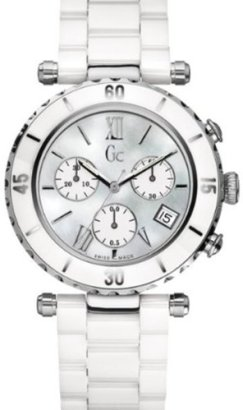GUESS-Gc-DIVER-CHIC-White-Ceramic-Chronograph