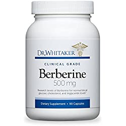 Dr. Whitaker's Berberine 500 mg Supplement for Blood Sugar Support, 90 Capsules (30-Day Supply)