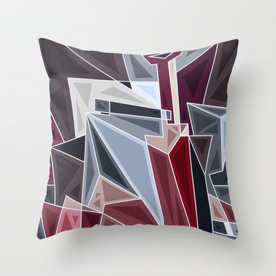 Vino Rosso Throw Pillow by 5wingerone