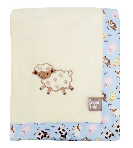 Trend Lab Framed Receiving Blanket, Baby Barnyard