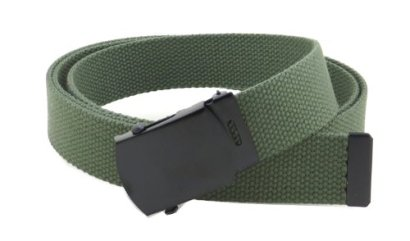 Canvas-Web-Belt-Military-Style-with-Black-Buckle-and-Tip-56-Long-Many-Colors