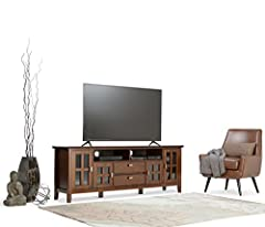 Simpli Home Artisan Wide TV Media Stand for TVs up to 80