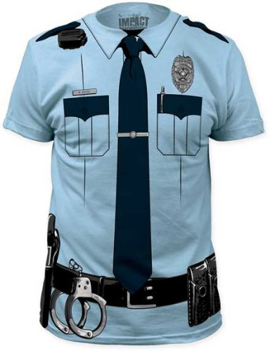 Impact Originals Police Cop Uniform Costume Tee (Small)