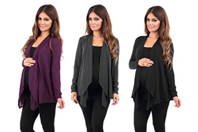 3-Pack-Womens-Hacci-Maternity-and-Nursing-Cardigan-by-Rags-and-Couture-Made-in-USA