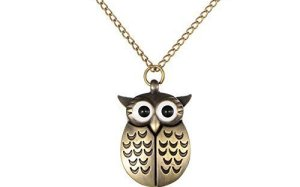 Mifine Owl Antique Style Delicate Vintage Pocket Watch With Chain