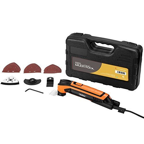 41UvHPuj4%2BL - BEST BUY #1 VonHaus Oscillating Multi Tool with 15 piece accessory set and Carry Case: Free 2 Year Warranty