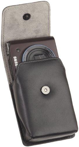Amazonベーシック デジタルカメラ用 ハーフフラップ レザーケースブラック