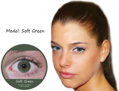 Farbige Kontaktlinsen Grün 3 Monatslinsen Contact lenses Design: Soft Green