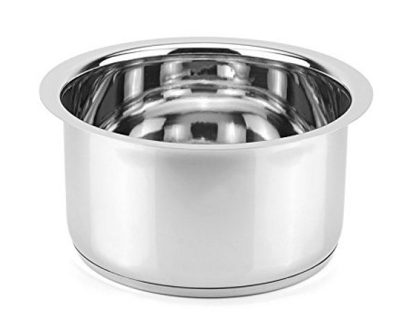 Meet Stainless Patila / Tope , 1 Piece , Silver , 1000ml