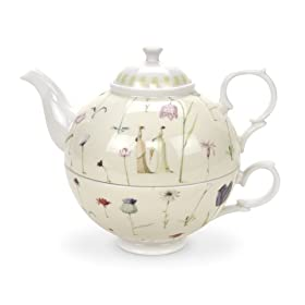 Portmeirion Laura Stoddard Up the Garden Path Tea for One 12 oz.