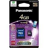 Panasonic 4GB microSDHCメモリーカード CLASS10 RP-SM04GEJ1K