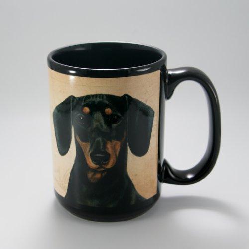 DACHSHUND BLK/TAN Faithful Friend Coffee Cup