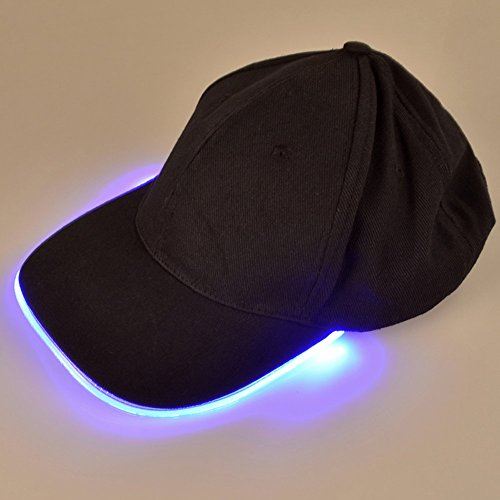 LED Hat – Ultra Bright Lights Unisex Baseball Cap/Easily Adjustable/One Size Fits All/Flashlight for Hunting, Jogging, Angling and More