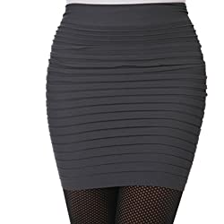 Encounter Damen Mini Business Pencil Rock Kleid Stretch Bleistiftrock Knielang Bleistiftröcke Kurz Hohe taille