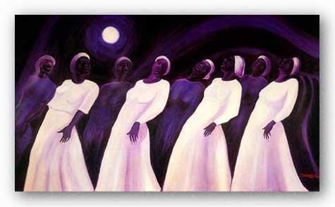 "Moonlight Spiritual S/N by Bernard Stanley Hoyes 22""x32"" Art Print Poster"