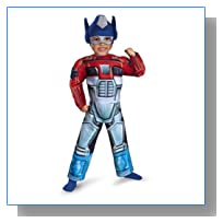 Disguise Transformers Rescue Bots Optimus Prime Toddler Muscle Costume, Small/2T