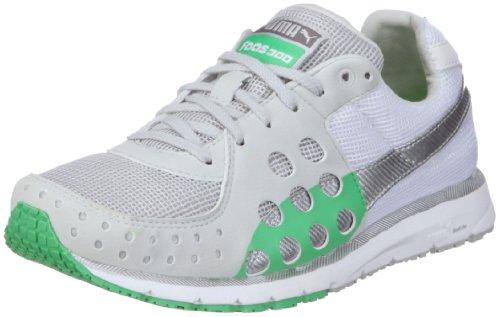 Puma Faas 300 185094, Unisex Erwachsene Sportschuhe -Running, Weiss (gray violet-white-island green 13), EU 42.5 (UK 8.5) (US 9.5)