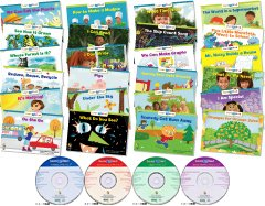 CTP Learn to Read Level 1-2 (絵本24冊+CD4枚+日本語解説書 専用ボックス、ステッカー付き)