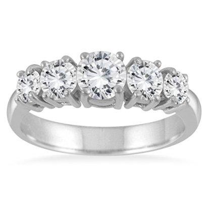 125-Carat-5-Stone-White-Diamond-Ring-in-14K-White-Gold