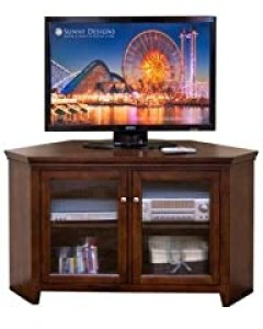 Sunny Designs Cappuccino 55 in. Corner TV Console