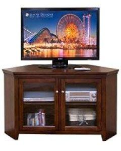 Sunny Designs Cappuccino 55 in. Corner TV Console