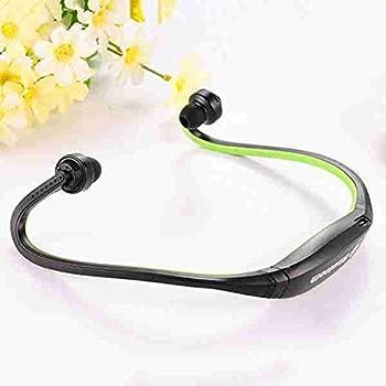 FLOVEME Bluetooth3.0+EDR ワイヤレス ステレオ イヤホン 高音質 ネックストラップ ヘッドセット マイク内蔵 ハンズフリー 通話 ノイズキャンセリング搭載 ネックレス型 イヤホン スポーツ仕様 ( グリーン )