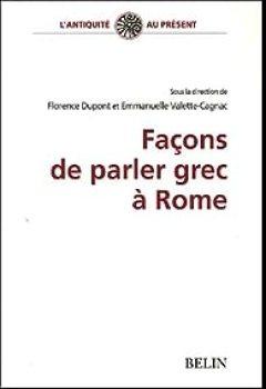 Livres Couvertures de Façons De Parler Grec à Rome