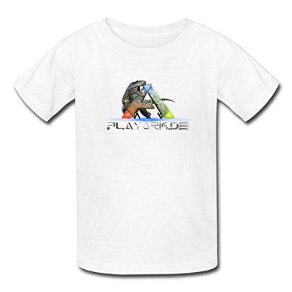 ARK-Survival-Evolved-Ark-Logo-Interesting-Young-T-Shirt-LLUTEE-White-Medium