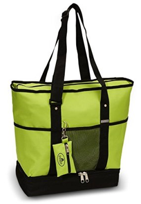 Everest-Luggage-Deluxe-Shopping-Tote-LimeBlack-LimeBlack-One-Size