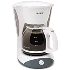 Mr. Coffee DW12 12-Cup Switch Coffeemaker, White