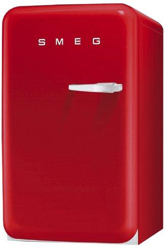 Smeg FAB10LR Standkühlschrank mit Gefrierfach / Linksanschlag / Kühlteil 101 Liter / Gefrierfach**** 13 Liter / rot